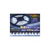 LEDテープ ライト 12V ホワイト 5m 薄型側面発光 白 480連 切断可 DIY ランプ 在庫限り