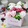 ソープフラワーボックスフラワーボックス母の日誕生日プレゼント女性女友達ギフト花結婚祝いお誕生日お花退職祝い送別会お祝い花おしゃれフラワーギフトシャボンフラワーメッセージカード付き即日発送