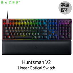 Razer公式 Razer Huntsman V2 英語配列 静音リニアオプティカルスイッチ ゲーミングキーボード Linear Optical Switch # RZ03-03930100-R3M1 レーザー (キーボード) 9/17リリース