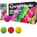 【まとめ割クーポン8〜10%OFF】 テーラーメイド taylormade ゴルフボール 1ダース DISTANCE+ Distance+ スポーツ ゴルフ用品・・・