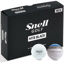 【まとめ割クーポン7〜9%OFF】 送料無料 スネルゴルフ Snell GOLF MTB BLACK ゴルフボール 1ダース スポーツ ゴルフ用品