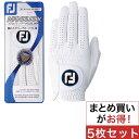 フットジョイ Foot Joy ナノロックツアーグローブ 5枚セット ゴルフグローブ 手袋