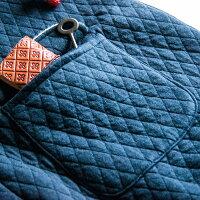 【キルティング刺繍ロングコート】レディース/トップス/アウター/コート/ロングコート/キルティング/カジュアル/大人の