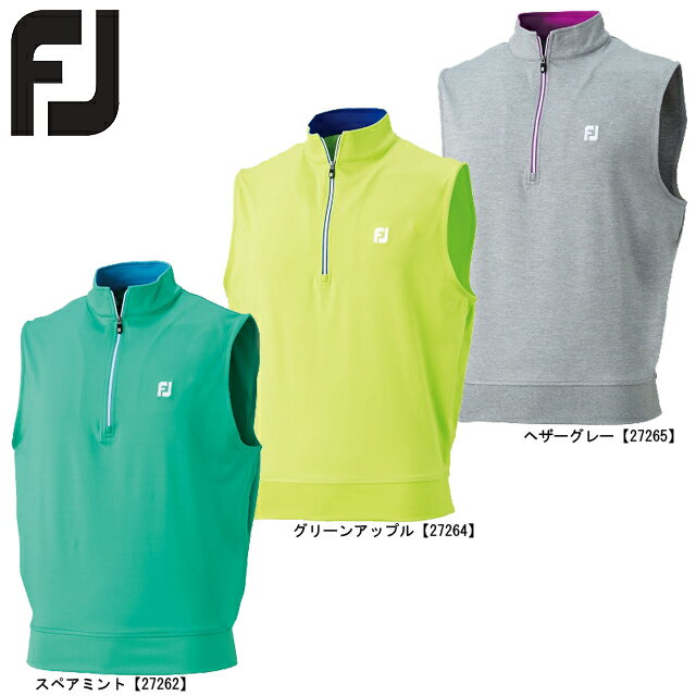 FOOTJOY フットジョイ ハーフジップベスト  FJ-S17-M51