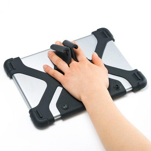 【アウトレット】耐衝撃シリコンケース(タブレット・8.9~11.6インチ・ブラック) サンワサプライ PDA-TABH4BK