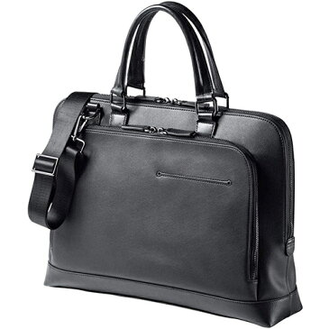 ビジネスバッグ 本革 A4収納対応 メンズ ショルダーベルト付属 2WAY ブラック 200-BAG159BK サンワサプライ