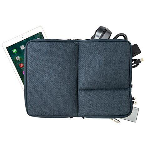 PCインナーケース 15.6インチ対応 両面収納 インナーバッグ Surface Book2/Surface Laptop対応 ネイビー 200-IN051NV サンワサプライ