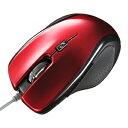 【訳あり 新品】超高感度LEDセンサー搭載。5ボタンブルーテック有線マウス(レッド) サンワサプライ MA-117HR
