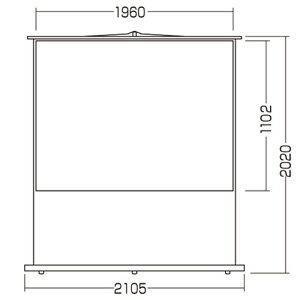 プロジェクタースクリーン(90型相当・床置き式・アスペクト比16:9)_PRS-Y90HD_サンワサプライ