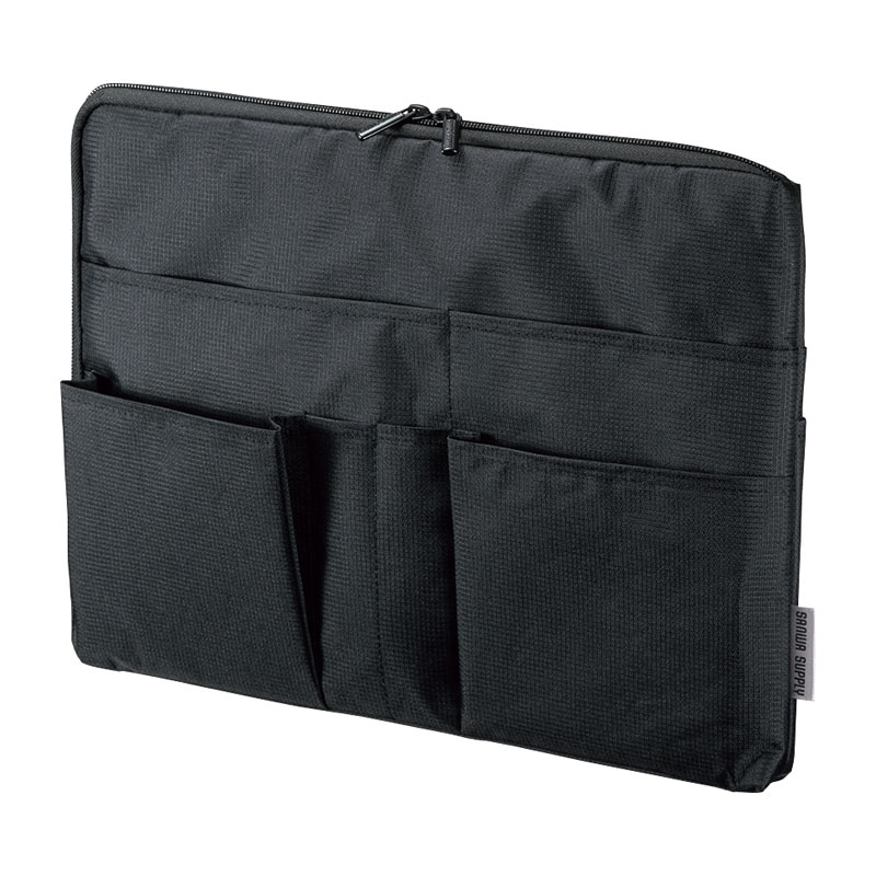 バッグインバッグ インナーバッグ リュック トートバッグ 整理収納 A4 横型 ブラック IN-GHBB2BK サンワサプライ