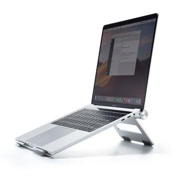 アルミスタンド ノートパソコン用 無段階調節 平置きタイプ 持ちはこび 薄型 PDA-STN34S サンワサプライ