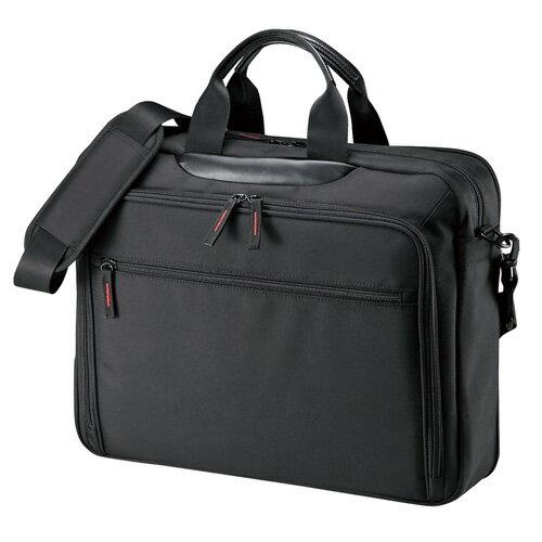 PCキャリングバッグ 15.6型ワイドまで対応 ブラック ビジネス 通勤 保護 マチ拡張 BAG-W2BKN サンワサプライ