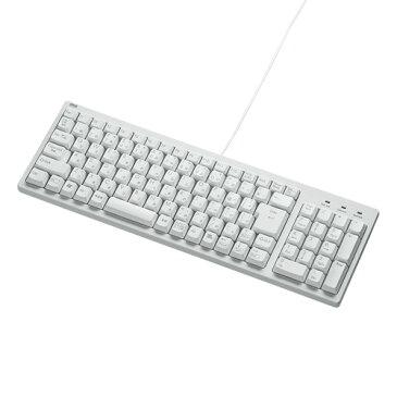 【訳あり 新品】コンパクトキーボード(ホワイト・有線・テンキー付き) SKB-KG2WN サンワサプライ ※箱にキズ、汚れあり