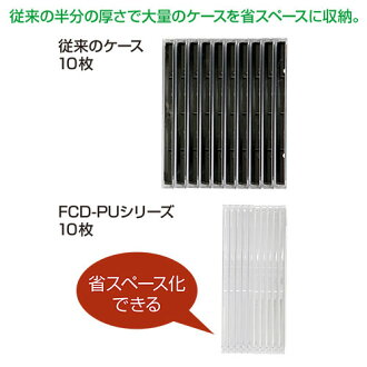 DVD・CDプラケース(100枚セット・クリア・5mm)_サンワサプライ_FCD-PU100C