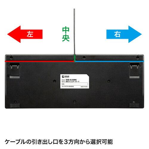 【訳あり 新品】コンパクトキーボード(有線・USB・パソコン・ブラック・テンキーなし・スリム・静音・パンダグラフ) SKB-SL20BK サンワサプライ ※箱にキズ、汚れあり