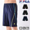 FILA(フィラ) メンズ フィットネス水着 男性用 ひざ丈 スイムボトム ルーズフィット ゆったり...