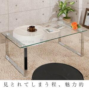 センターテーブル ガラス 高級感 テーブル 天板 ガラス リビング 高さ 40cm ミニ ガラステーブ...