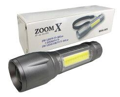マグネット付LEDズームライトZOOMx(ズームエックス)シルバーBH-1124(電池なし)