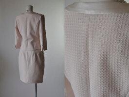 【RCP】9号/11号/13号七分袖リボンポケットスーツ控えめピンクかわいいスーツ入園式入学式843