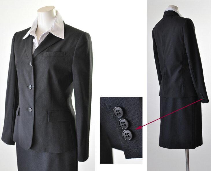 タキヒヨー『薄手ウールスカートスーツ』