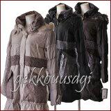 【あす楽】Mサイズ/Lサイズ最新モデル高品質ブルーフォックスファー付きダウンコートシャーリング入りダウンコート