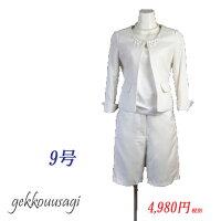 5号7号9号11号13号15号◇白七分袖ジャケットハーフ丈パンツ107