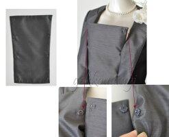 【あす楽・送料無料】7号/9号/11号/13号/15号【ジャケット2パターン】ノーカラージャケット人気のソフトシャンタン×薔薇フロッキースカート