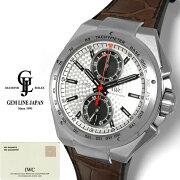 【中古】ギャラ付IWCインヂュニアクロノグラフジルバープファイルIW378505メンズ自動巻腕時計