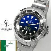新品ギャラ/保護シール付ロレックスディープシーDブルー116660ランダム番ルーレット刻印メンズ自動巻腕時計