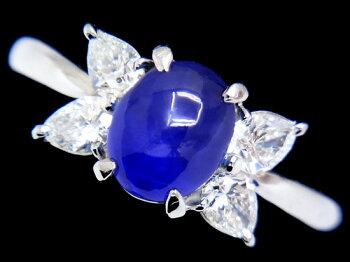 【】ブルースターサファイア2.93ct上質ダイヤ0.57ctPt900リング