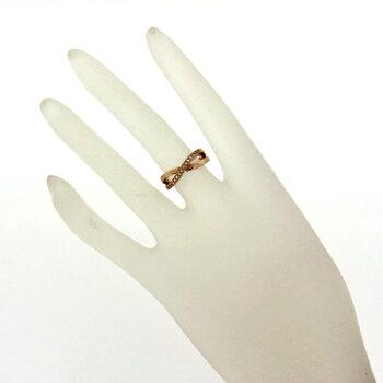 【】普段使いにK18PGダイヤモンドリング