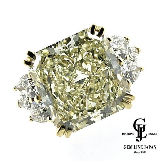【中古】10.39ct 大粒 ダイヤモンド LY-VS1 【GIA鑑付】K18YG リング