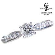 【中古】【美品】ダイヤモンド0.426ctD-VVS1-EX0.25ctPt900リング