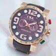 【I.T.A.】アイティーエー 18.00.06 ビー・コンパックス2.0 SS製I.P.RG加工×革 クォーツ メンズ腕時計【新品】