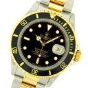 ロレックスサブマリーナ デイト 16613 コンビ ブラックダイヤル ステンレススチール・イエローゴールド製 SY 自動巻メンズ腕時計 人気ダイバー【中古】