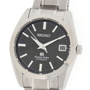 【SEIKO】セイコー【グランドセイコー】デイトSS黒文字盤自動巻きメンズ腕時計