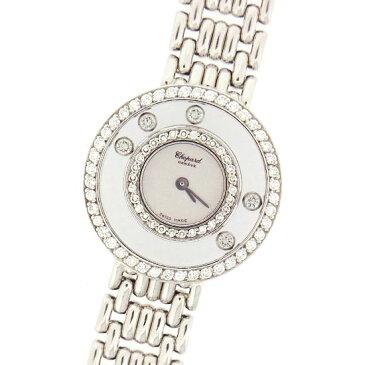 【中古】ショパール 時計 レディース ハッピー ダイヤモンド 20/6392 ムービングダイヤ K18WG無垢 ホワイトゴールド製 クォーツ 腕時計