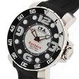 アイティーエー コルサロ ネットゥーノ 13.01.19 ステンレス製×ラバー ブラック×ホワイト 45mm クォーツ メンズ腕時計