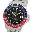 ロレックス GMTマスターII 16710 P番 黒文字盤 赤青ベゼル SS ステンレス製 自動巻きメンズ腕時計【中古】