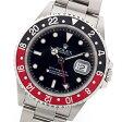 激レア 新品 正規品 ロレックス GMTマスターII 赤黒ベゼル 16710 T番 ステンレススチール製 黒文字盤 自動巻メンズ腕時計