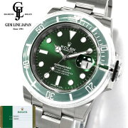 【新品】保護シール/ギャラ付ロレックスサブマリーナ116610LVグリーンサブランダム番メンズ腕時計