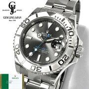 【中古】ギャラ付Pt/SSロレックスヨットマスター116622ダークロジウムランダム番ルーレット刻印メンズ腕時計