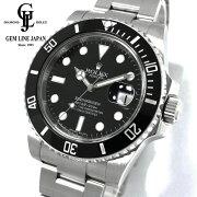 【中古】ロレックスサブマリーナデイト116610LNG番ルーレット刻印メンズ自動巻腕時計