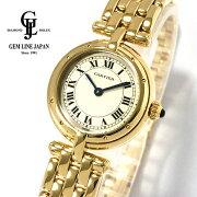 【中古】美品K18YGカルティエパンテールヴァンドームクォーツ8057921レディース腕時計