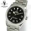 【中古】ロレックス エクスプローラーI 14270 E番 黒文字盤 シングルトリチウム メンズ 腕時計