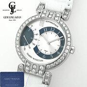 【中古】ギャラ付ハリーウィンストンプルミエールエキセンター200-MASR37WダイヤベゼルK18WG無垢メンズ自動巻腕時計
