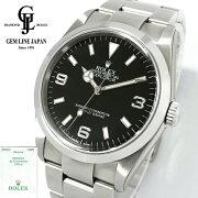 【中古】美品ギャラ/一部保護シール付ロレックスエクスプローラーI114270F番メンズ自動巻腕時計