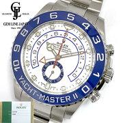 【新品】2019年7月ギャラ付ロレックスヨットマスターII116680ランダムSSブルーメンズ自動巻き腕時計