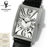 【中古】美品ギャラ付フランクミュラーロングアイランド1002QZメンズクォーツ腕時計