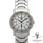 【中古】ブルガリ時計メンズソロテンポST35Sホワイト文字盤ステンレス35mmクォーツ男性用腕時計